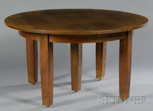 Arts & Crafts Oak Dining Table