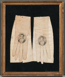 "Pair of Calfskin ""Welcome Lafayette The Nation's Guest"" Gloves"