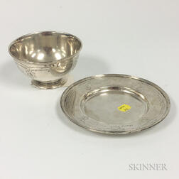 Sterling Silver Footed Bowl and Undertray