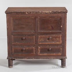 Early Joined Chest over Four Drawers