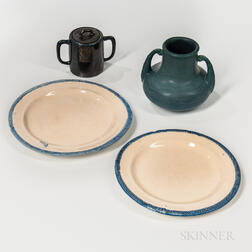 Four J.S. Taft and Hampshire Art Pottery Items