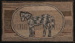 Horse Hooked Rug