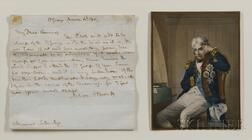 Horatio Nelson, First Viscount Nelson, First Duke Bronte (1758-1805)   Autograph Letter, Signed, 4 March 1801, aboard the Saint George