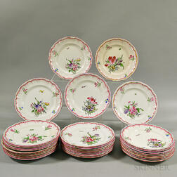 "Thirty K&G Luneville ""Old Strasbourg"" Ceramic Plates"