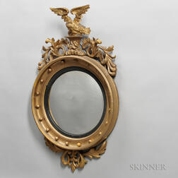 Carved and Gilded Girandole Mirror