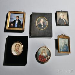 Six English and Continental Portrait Miniatures of Gentlemen