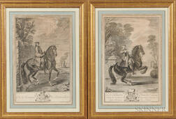 After Charles Parrocel (French, 1688-1752)    Two Equestrian Portraits: M. le Marquis de Beauvilliers