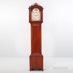 Abraham Edwards Pine Tall Clock