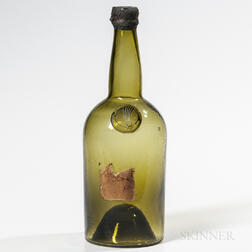 Mold-blown Comet Wine Bottle