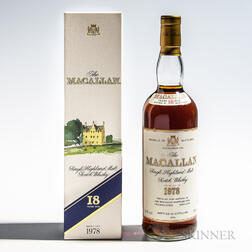 Macallan 18 Years Old 1978, 1 750ml bottle (oc)
