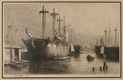 Lemuel D. Eldred (Massachusetts and New York City, 1848-1921)      Whaleships Rousseau and Desdemona
