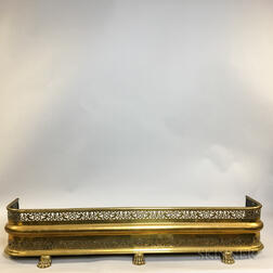 Pierced Brass Fireplace Fender