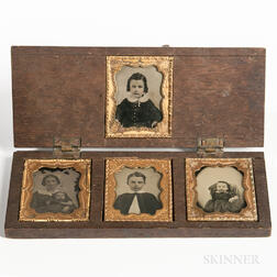 Four Ninth-plate Ambrotypes of a Family