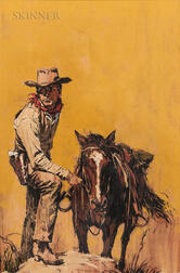 Tom Ryan (American, 1922-2011)      A Cowboy and His Horse