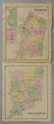Two Matted Maps of Little Compton and Tiverton, Rhode Island.     Estimate $100-150