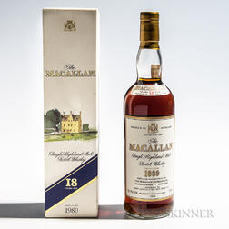 Macallan 18 Years Old 1980, 1 750ml bottle (oc)