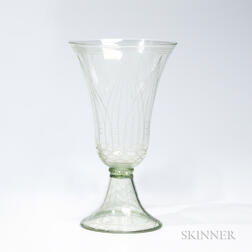 "Whitefriars Etched Glass ""Historismus"" Goblet"