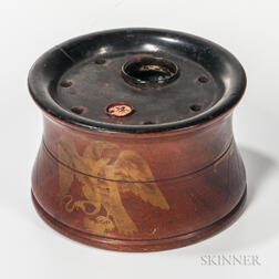 Turned and Eagle-decorated Inkwell