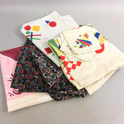Group of Art Deco and Modernist Textiles.     Estimate $60-80