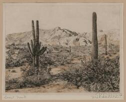William Cheesborou Ostrander (American, 1858-1934)      Desert Waste