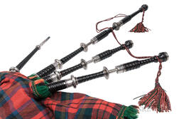 Scottish Silver-mounted Bagpipes, Peter Henderson, Glasgow, c. 1930
