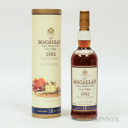Macallan 18 Years Old 1982, 1 750ml bottle (ot)