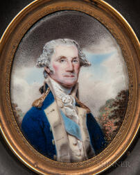 William Russell Birch (Pennsylvania/England, 1755-1834)      Portrait Miniature of General George Washington