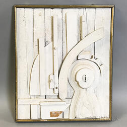 Denis G. Barrington (British, 1930-1999)    Sculptural Assemblage in White
