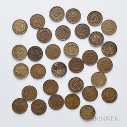 Thirty-two Mostly Indian Head Cents