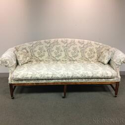 Federal-style Upholstered Mahogany Sofa