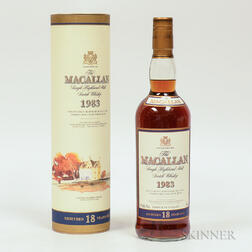 Macallan 18 Years Old 1983, 1 750ml bottle (ot)