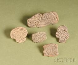 Five Pre-Columbian Pottery Seals