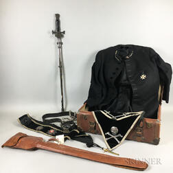 Ames Sword Co. Military and Society Goods Masonic Regalia and Ceremonial Sword.     Estimate $300-400