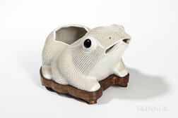 Large White Biscuit Porcelain Toad