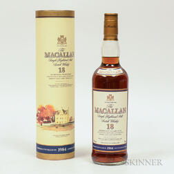 Macallan 18 Years Old 1984, 1 750ml bottle (ot)