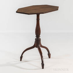 Carved and Inlaid Mahogany Tilt-top Candlestand