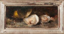 American School, 20th Century    Still Life with Oysters and Lemon