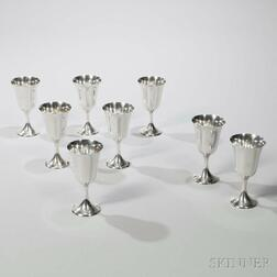 Eight Gorham Sterling Silver Goblets