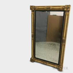 Large Classical Carved and Gilt-gesso Overmantel Mirror
