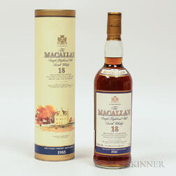 Macallan 18 Years Old 1985, 1 750ml bottle (ot)