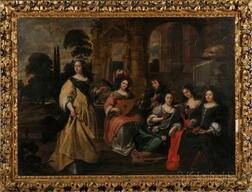 Flemish School, 17th Century Style      Figure Group in a Classical Setting