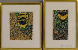 Jay Hutchinson (American, 20th Century)    Two Framed Collages: Glenfiddich and Jewel