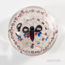 Baccarat Faceted Butterfly Paperweight