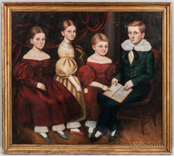 American School, 19th Century      Family Portrait of Four Children