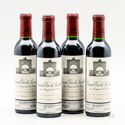 Chateau Leoville Las Cases 2001, 4 demi bottles