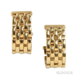 """18kt Gold """"Panthere"""" Earrings, Cartier"""