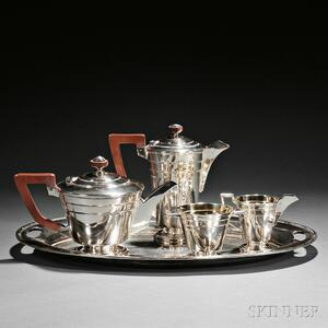 Five-piece George VI Sterling Silver Tea and Coffee Service