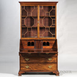 Georgian Mahogany Secretary Bookcase