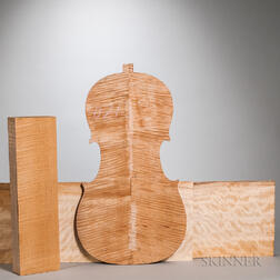 Two Violoncello Backs and One Neck Block