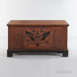 Paint-decorated Chest with Eagle